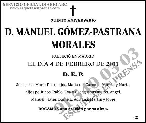 Manuel Gómez-Pastrana Morales